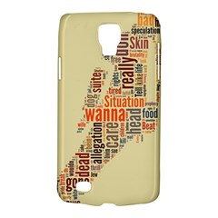Michael Jackson Typography They Dont Care About Us Samsung Galaxy S4 Active (i9295) Hardshell Case by FlorianRodarte