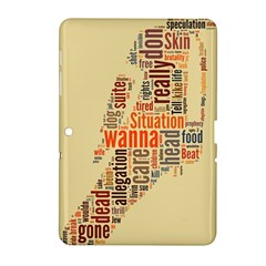 Michael Jackson Typography They Dont Care About Us Samsung Galaxy Tab 2 (10 1 ) P5100 Hardshell Case  by FlorianRodarte