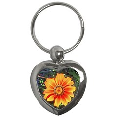 Flower In A Parking Lot Key Chain (heart) by sirhowardlee