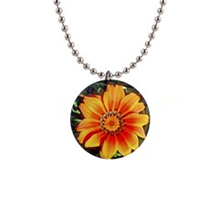 Flower In A Parking Lot Button Necklace by sirhowardlee