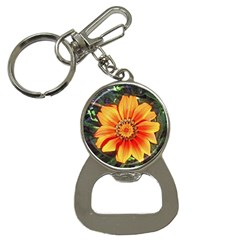 Flower In A Parking Lot Bottle Opener Key Chain by sirhowardlee