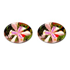 African Iris Cufflinks (oval) by sirhowardlee