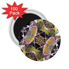 Geometric Grunge Pattern Print 2 25  Button Magnet (100 Pack) by dflcprints