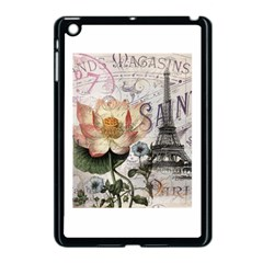 Vintage Paris Eiffel Tower Floral Apple Ipad Mini Case (black)
