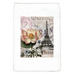 Vintage Paris Eiffel Tower Floral Removable Flap Cover (large)