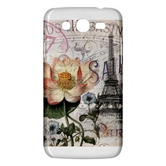 Vintage Paris Eiffel Tower Floral Samsung Galaxy Mega 5 8 I9152 Hardshell Case  by chicelegantboutique