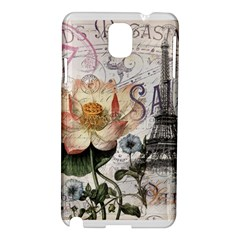 Vintage Paris Eiffel Tower Floral Samsung Galaxy Note 3 N9005 Hardshell Case by chicelegantboutique