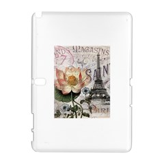 Vintage Paris Eiffel Tower Floral Samsung Galaxy Note 10 1 (p600) Hardshell Case by chicelegantboutique