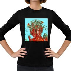 Flower Horizon Women s Long Sleeve T Shirt (dark Colored) by icarusismartdesigns