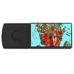 Flower Horizon 4gb Usb Flash Drive (rectangle) by icarusismartdesigns