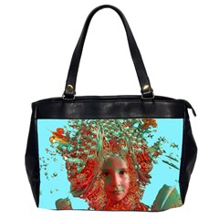 Flower Horizon Oversize Office Handbag (two Sides) by icarusismartdesigns