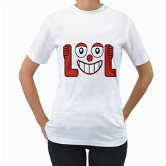 Laughing Out Loud Illustration002 Women s T-shirt (white)  by dflcprints