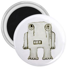 Sad Monster Baby 3  Button Magnet by dflcprints