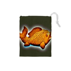 Goldfish Drawstring Pouch (small) by sirhowardlee