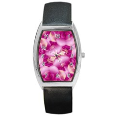 Beauty Pink Abstract Design Tonneau Leather Watch by dflcprints