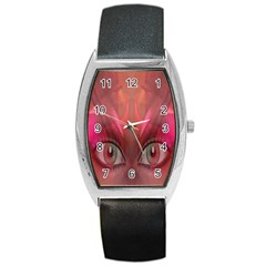 Hypnotized Tonneau Leather Watch by icarusismartdesigns