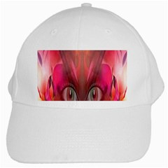 Hypnotized White Baseball Cap by icarusismartdesigns