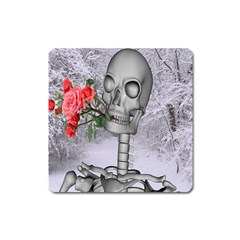 Looking Forward To Spring Magnet (square) by icarusismartdesigns