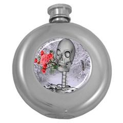Looking Forward To Spring Hip Flask (round) by icarusismartdesigns