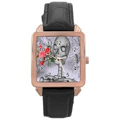 Looking Forward To Spring Rose Gold Leather Watch  by icarusismartdesigns