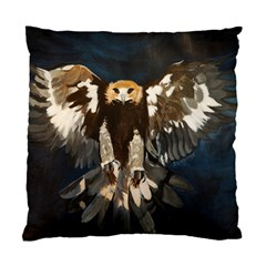 Golden Eagle Cushion Case (two Sided)  by JUNEIPER07
