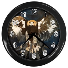 Golden Eagle Wall Clock (black)