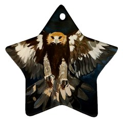 Golden Eagle Star Ornament by JUNEIPER07