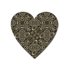 Steam Punk Pattern Print Magnet (heart) by dflcprints