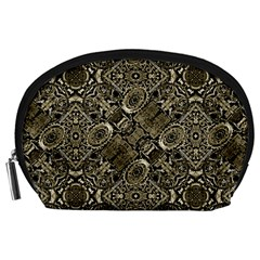 Steam Punk Pattern Print Accessory Pouch (large) by dflcprints