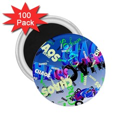 Pure Chaos 2 25  Button Magnet (100 Pack)