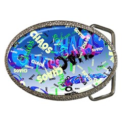 Pure Chaos Belt Buckle (oval) by StuffOrSomething