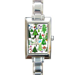 Oh Christmas Tree Rectangular Italian Charm Watch by StuffOrSomething
