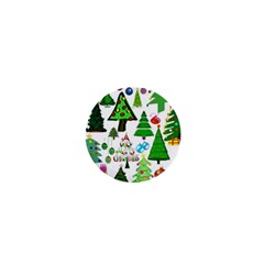 Oh Christmas Tree 1  Mini Button Magnet by StuffOrSomething