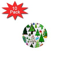 Oh Christmas Tree 1  Mini Button Magnet (10 Pack) by StuffOrSomething