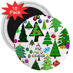 Oh Christmas Tree 3  Button Magnet (10 Pack) by StuffOrSomething