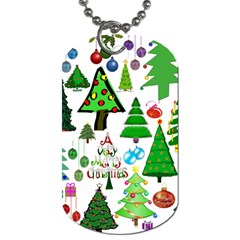 Oh Christmas Tree Dog Tag (one Sided) by StuffOrSomething