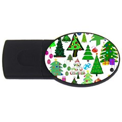 Oh Christmas Tree 2gb Usb Flash Drive (oval) by StuffOrSomething