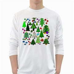 Oh Christmas Tree Men s Long Sleeve T Shirt (white) by StuffOrSomething