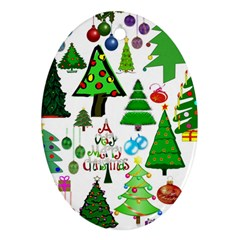 Oh Christmas Tree Oval Ornament (two Sides) by StuffOrSomething
