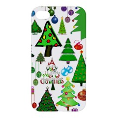 Oh Christmas Tree Apple Iphone 4/4s Premium Hardshell Case by StuffOrSomething