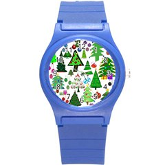 Oh Christmas Tree Plastic Sport Watch (small) by StuffOrSomething