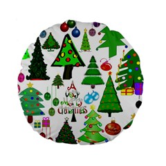 Oh Christmas Tree 15  Premium Round Cushion  by StuffOrSomething