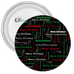 Merry Christmas Typography Art 3  Button by StuffOrSomething