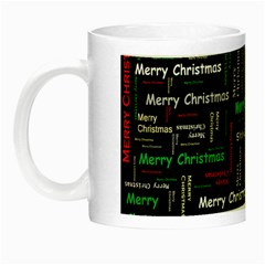 Merry Christmas Typography Art Glow In The Dark Mug by StuffOrSomething