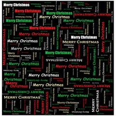 Merry Christmas Typography Art Canvas 20  X 20  (unframed) by StuffOrSomething