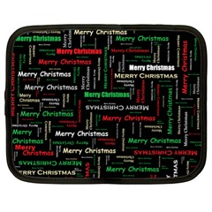 Merry Christmas Typography Art Netbook Sleeve (xl) by StuffOrSomething