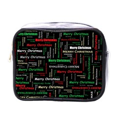 Merry Christmas Typography Art Mini Travel Toiletry Bag (one Side) by StuffOrSomething