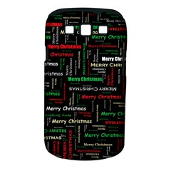 Merry Christmas Typography Art Samsung Galaxy S Iii Classic Hardshell Case (pc+silicone)