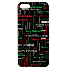 Merry Christmas Typography Art Apple Iphone 5 Hardshell Case With Stand