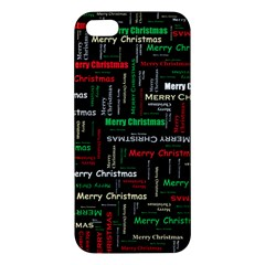 Merry Christmas Typography Art Apple Iphone 5 Premium Hardshell Case by StuffOrSomething